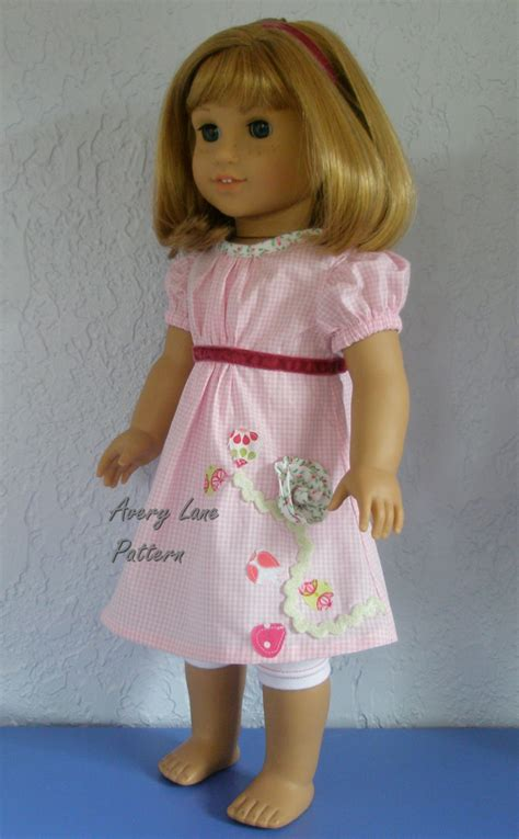 sewing pattern etsy 18 inch doll clothes pdf sewing pattern janie dress and top