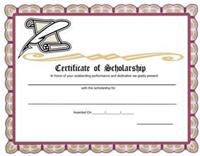 scholarship award template 5 plus scholarship award certificate exles for word and pdf