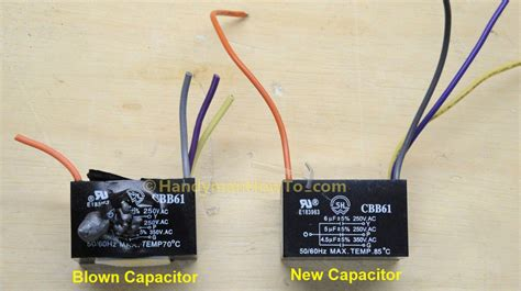 capacitor of a ceiling fan how to replace a ceiling fan motor capacitor