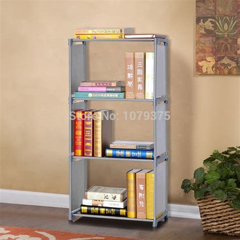 free shipping 4 layers bookcase bookshelf modern brief