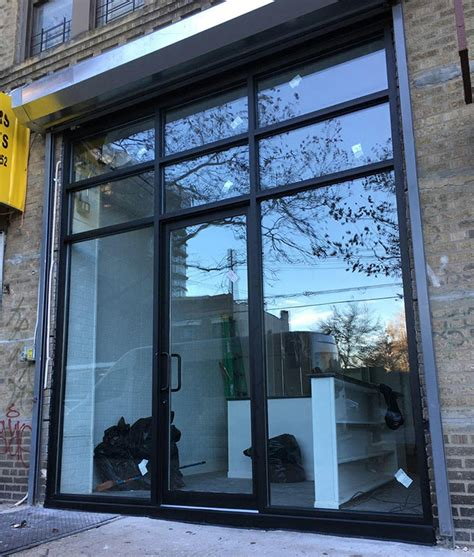 Glass Door Repair Nyc Projects Storefront Curtain Walls Replacement Windows Glass Installation New York