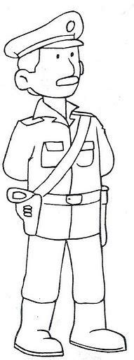 dibujos para colorear de policias 1000 images about clip art professions on pinterest