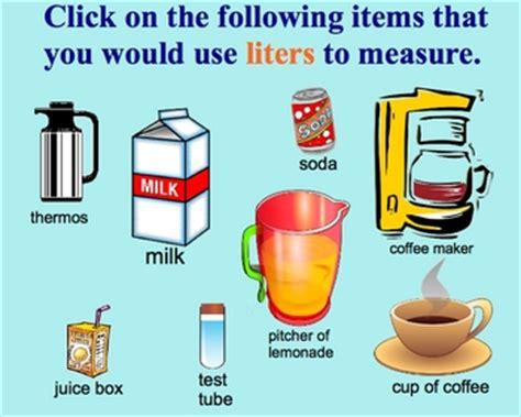 measurement estimation liters milliliters by