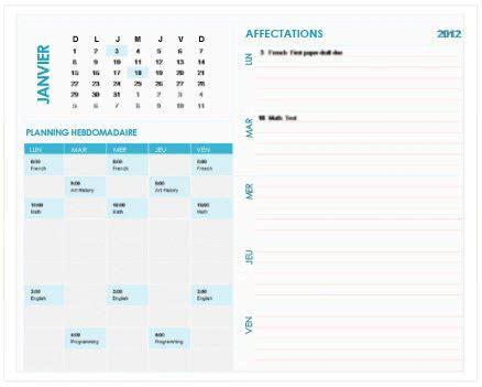 Calendrier 5e Journée Liga Mod 232 Les Gratuits De Calendriers Hebdomadaires Sur Office