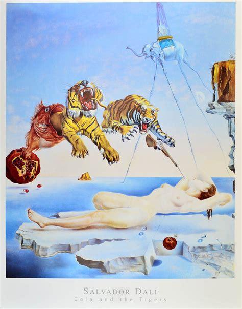 Salvador Dalis Werke by Salvador Dali Gala Und Die Tiger Poster Kunstdruck Bei