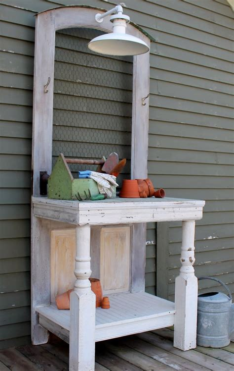 old door potting bench 17 best images about potting benches for the garden on