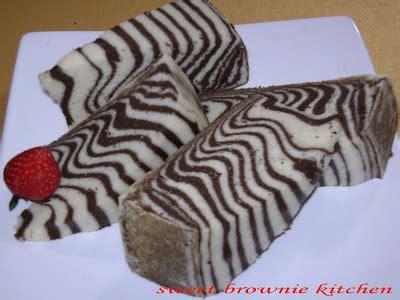 resep membuat roti zebra kukus aneka kue bolu zebra cake kukus