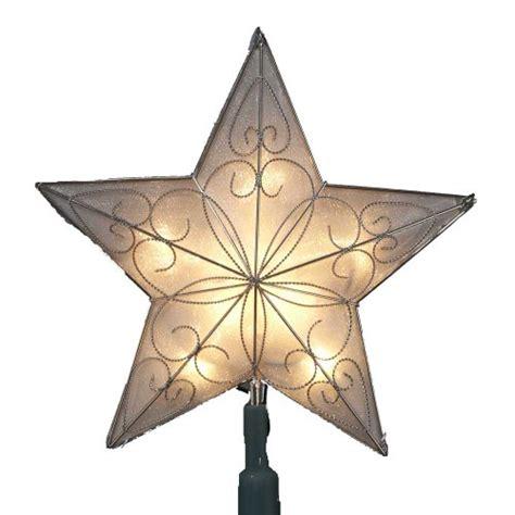 kurt adler 10 light indoor ul star tree topper