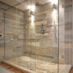 Stone Bathroom Designs natural stone wall and glass shower enclosure general idea nice i