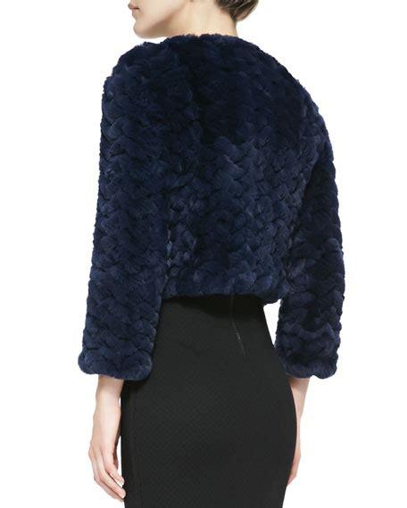 Jaket Marline Jaket Line marlene zigzag fur jacket
