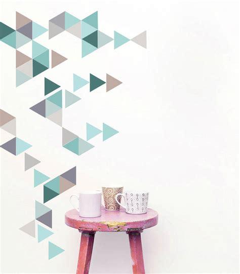 wall sticker patterns geometric triangles vinyl wall sticker set by oakdene designs notonthehighstreet