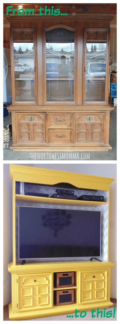 repurposed furniture ideas tv cabinet 17 best ideas about repurposed china cabinet on