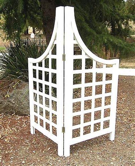 Corner Trellis Wooden White Corner Screen Outdoor Wood Trellises
