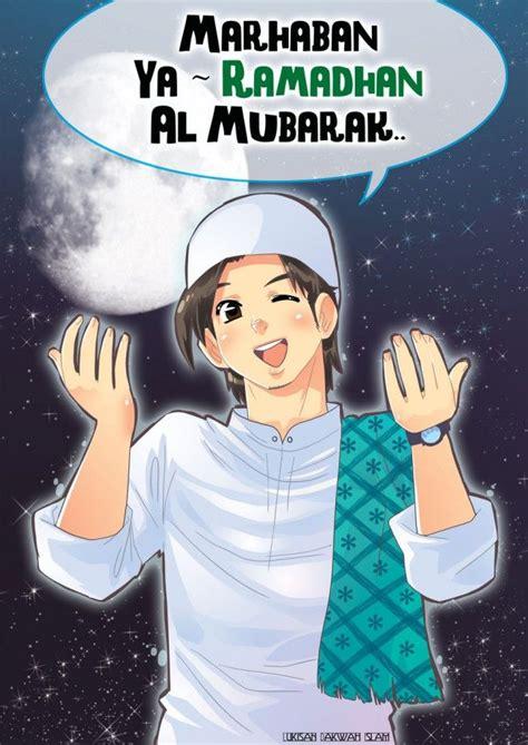 anime islam anime muslim man welcoming ramadan lazım bunlar bana