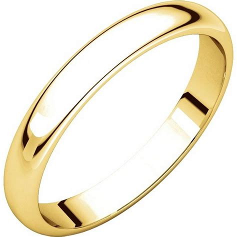 Wedding Bands Plain by H114853 14k Plain Wedding Band Yellow Gold High Dome