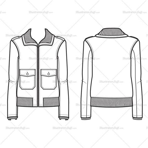 bomber jacket template s bomber jacket fashion flat template illustrator
