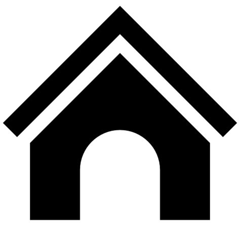 black dog house black white android dog house icon2s download free web icons