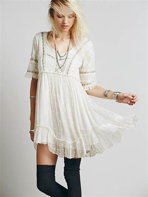 people  dot mini dress   people clothing