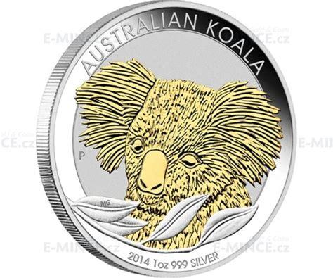 2014 australien 1 silber koala vergoldet e mince