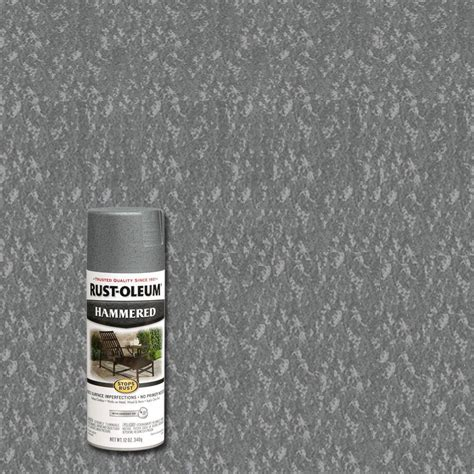 rust oleum stops rust 12 oz protective enamel hammered gray spray paint 6 pack 7214830 the