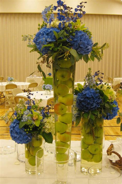 Wedding Cylinder Vases Centerpiece Ideas Blue And Green Weddings Annateague