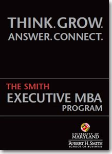 Maryland Executive Mba Program by Of Maryland Smith School Of Business Executive