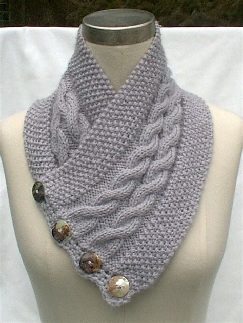 knitting pattern scarf neck warmer neck warmer scarf gray hand knit cables by