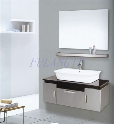 china stainless steel bathroom cabinet vanity 8100