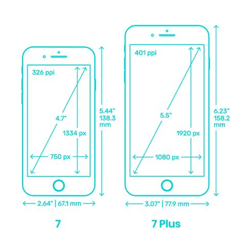 apple iphone 7 7 plus dimensions drawings dimensions guide