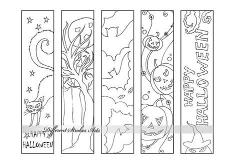printable halloween bookmarks to color halloween coloring bookmarks printable bookmarks to color
