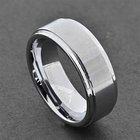 silver black gold wedding rings tungsten carbide ring comfort fit wedding band silver