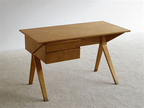 bent desk 1952 writing desk eb02 and sb03 chair with birch plywood