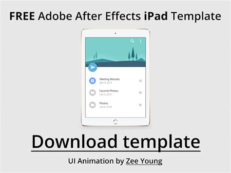 template after effects ipad free ipad air 2 after effects template by issara