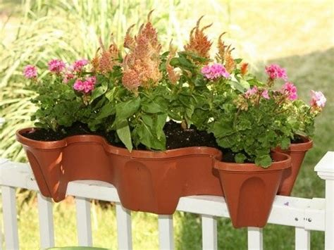 deck rail planters at lowes deck planters made from