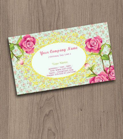 free shabby chic business card templates roses shabby chic pre made business cards and