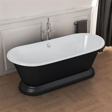 baignoire 238 lot en fonte 180x79 cm peinte en noir manchester