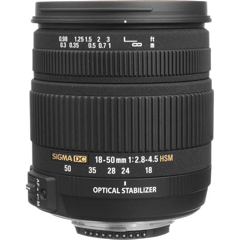 Sigma 50mm sigma 18 50mm f 2 8 4 5 dc os hsm zoom for nikon d slrs 861306