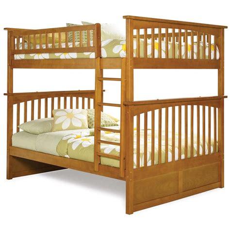 atlantic furniture bunk bed atlantic furniture columbia full over full bunk bed in caramel latte ab55507