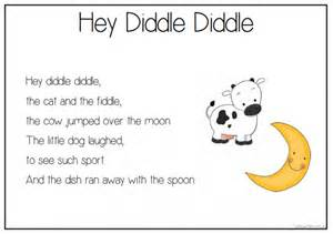 image gallery hey diddle diddle poem
