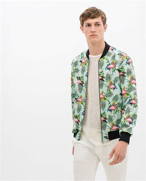 Jaket Bomber Flamingo By Fwr Shop zara flamingo print jacket vibrant ps 1