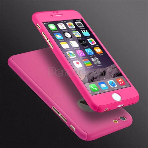 360 Iphone 66s Plus capinha capa iphone 6 6s frente e verso pink rosa 360
