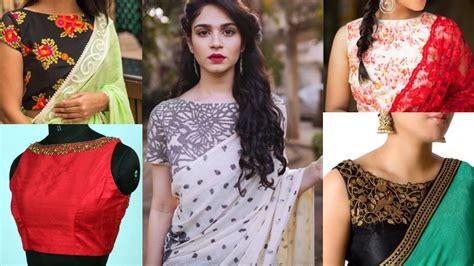boat neck pattu blouses latest boat neck saree blouse designs beautiful boat neck