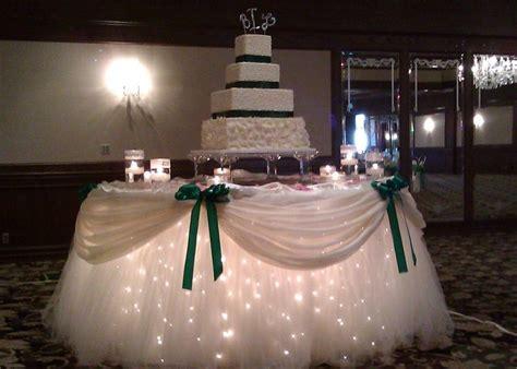 tulle lights for cake table for alisha pinterest