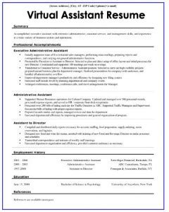 Virtual Assistant Resume Assistant Website Template