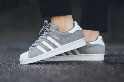 Adidas Superstars adidas superstar suede solid grey sneaker hypebeast