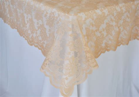 chagne lace table overlay toppers rectangular 54 quot x108 quot