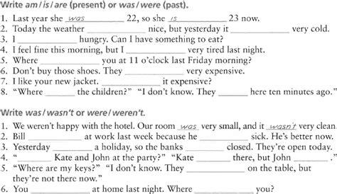 lecturas en presente simple con preguntas simple past verb to be el pasado de ser o estar