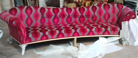 Kwalitas Expor Motif Semi Tulis Bunga Warna Dasar Gading Soft sofa mewah zelig