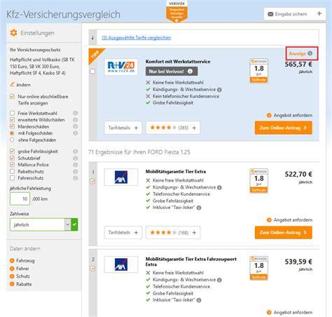 Autoversicherung Autos Im Vergleich by Kfz Versicherung Vergleich G 252 Nstige Autoversicherung