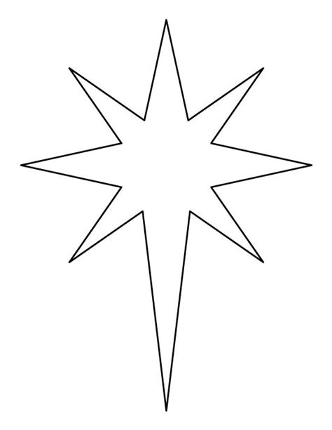 printable star a4 printable bethlehem star pattern use the pattern for